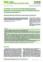 Correlation of Fruit Size with Morphophysiological Properties and Germination Rate of the Seeds of Service Tree (Sorbus domestica L.)