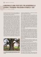 Arborikulturni postupci pri konzervaciji starih i posebno vrijednih stabala l dio