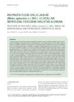 prikaz prve stranice dokumenta Krupnoća ploda divlje jabuke (Malus sylvestris (L.) Mill.): utjecaj na morfolško-fiziološka svojstva sjemena