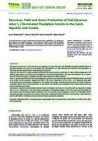 prikaz prve stranice dokumenta Structure, Yield and Acorn Production of Oak (Quercus robur L.) Dominated Floodplain Forests in the Czech Republic and Croatia