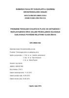 prikaz prve stranice dokumenta Promjene fizikalnih svojstava ploča od usitnjenog i razvlaknjenog drva uslijed produljenog izlaganja djelovanju povišene relativne vlage zraka