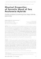 prikaz prve stranice dokumenta Fizička svojstva juvenilnog drva dvaju hibrida paulovnije