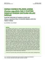prikaz prve stranice dokumenta Sadnja sadnica poljskog jasena (Fraxinus angustifolia Vahl) u uvjetima sanacije šumskih sastojina uslijed sušenja