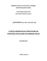 prikaz prve stranice dokumenta Utjecaj modifikacije hrastovine na čvrstoću rotacijski zavarenog spoja